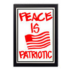The Art of Protest Peace is Patriotic Glossy Poster 11 x 17in  24 x 36in