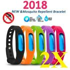 2pc USA Anti Mosquito Pest Bug Repellent Wrist Band Bracelet Insect Bangle Lock  image