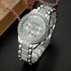 Fashion Women Ladies Rhinestone Stainless Steel Luxury Quartz Causal Wrist Watch