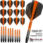 Harrows Quantum Supergrip Fusion Spar Set mit 12 Flights & 9 Shafts orange