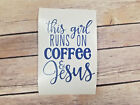 Girl Coffee & Jesus Car Laptop Yeti Window Decal Stickers. Colors and Sizes Avai