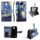 Flip Wallet Leather Case For LG Zone 3 VS425 w Cover Cash id Slots Stands