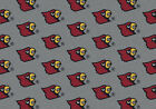 Louisville Cardinals NCAA Team Repeat Indoor Area Rug