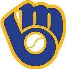Milwaukee Brewers MLB Color Die Cut Vinyl Decal Sticker - Choose Size cornhole
