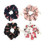 Flamingos Charms Hair Scrunchie Bun Ring Elastic Ponytail Holder for Girl Lady