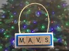 MAVS Dallas Mavericks Christmas Ornament Scrabble Tiles Key Chain Magnet on eBay