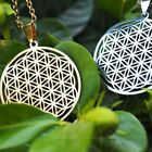 Fashion Jewelry Flower Of Life Pendant Necklace Sacred Geometry Silver Chain