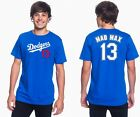 "Max Muncy ""MAD MAX"" Los Angeles Dodgers #13 MLB Jersey Style Mens Graphic T on Ebay"