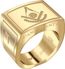 Men's Past Master 10k Yellow or White Gold Freemason Masonic Ring Sizes 8 to 14