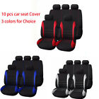 10 Part Universal Car Seat Covers w Head Rests Full Set Auto Seat Cushions