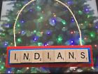 Cleveland Indians Christmas Ornament Scrabble Tiles Magnet Rear View Mirror on Ebay