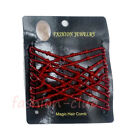 Butterfly Easy Magic Beads Double Slide Hair Comb Elastic Clip Hair Accessories