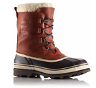 Sorel Mens 8.5 14 Caribou Leather Wool Boot Removable Liner Winter Snow Tobacco