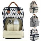 Mummy Bag Newborn Baby Diaper Nappy Backpack Multifunction Large Changing Bag US