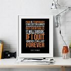 Eric Thomas Inspirational Wall Art Print Motivational Quote Poster Decor Gift