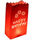 1 -100 Choose Your Design RED Paper Candle Bag Lanterns FLAME RETARDANT PAPER
