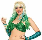 Mermaid Bikini Top Metallic Ariel Sea Fish Halter Adult Womens Costume