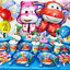 Super wings cup plate banner balloon topper cupcake table cover cake SUPERWING