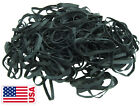 Usa Bulk Black High Heat Uv Rated #64 Angler Fishing Rubber Bands  3-1/2