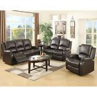 Recliner Leather Sofa Set Loveseat Couch 3+2+1 Seater Living Room Furniture