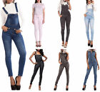 Womens Celeb Denim Jumpsuit Jeans Full Length Skinny Overall Dungaree Size 6-14