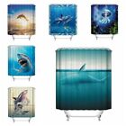 Waterproof Polyester Ocean Fish Bathroom Shower Curtain Home