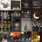 Christmas Snowman Stickers Removable Home Vinyl Window Room Merry Wall Papers