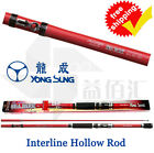 Carbon Boat Fishing Hollow Rods Sea Park Interline Rod Telescopic Fish Poles New