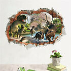 Home Decor Showroom PVC 3D Dinosaur Jurassic Park Wall Sticker Kids Room Mural Art Decoration Wall Paris Chic Home Decor