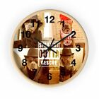 Pitbull Love Straight Outta Rescue Funny Pit Bull Wall clock