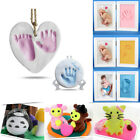Kid Baby Care Air Drying Clay Clear Handprint Footprint Imprint Kit Casting DIY image