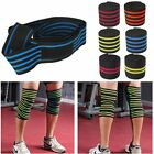 Sports Elastic Knee Wraps Men's Weight Lifting Bandage Straps Guard Pads LS on eBay