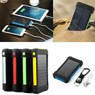 US 300000mAh Solar Power Bank 2 USB LED Exterior Battery Charger For Cell Phone