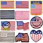 US USA American Military Flag Patch Iron on Embroidery Appli