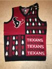 NWT NFL HOUSTON TEXANS MENS UGLY CHRISTMAS SWEATER VEST $23.99 USD on eBay