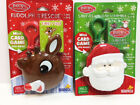 New Kids Rudolph Red Nose Reindeer Or Santa Mini Christmas Card Game Clip Case