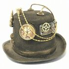 Steampunk Top Hat Feather Halloween Costume Cosplay Party With Goggles