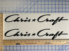 CHRIS CRAFT BOAT DECALS 18 COLORS AVAILABLE EMBLEM PAIR HIGHEST QUALITY STICKERS