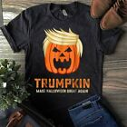 Trumpkin Make Halloween Great Again Funny Trump Shirt Black Cotton Men S-6XL