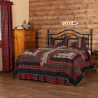 CUMBERLAND Rustic Lodge Patchwork Quilt - Choose Size & Accessories - VHC Brands image