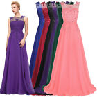 Grace Karin Long Lace Chiffon Party Ball Evening Prom Gown B