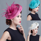 Fashion Sinamay Flower Fascinator Hat Cocktail Headband Hair Clip Wedding Party