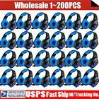 LOT 3.5mm Gaming Headset Mic LED Headphones Stereo Surround for PS3 PS4 PC AS