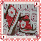 NEW Tennis CONVERSE Baby sneakers shoes slippers CORAL FLOWE