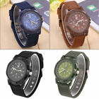 Fashion Mens Army Military Sports Watches Numeral Nylon Quartz Wrist watch CHEAP image