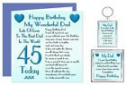 Dad Birthday Gift Set - Card, Keyring & Magnet - Ages 30 - 100 Years - Lots Love