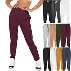 Womens French Terry Jogger Pants Sweatpants Active Running S 2X Lounge Campus