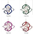 """Cosmix Copper Wind Spinner Metal 14""""L 3 Color Combo Choices Beautiful Motion Art"""