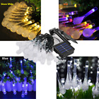 Outdoor String Lights Solar Powered Waterproof For Patio Wedding Party 30 Leds