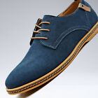 Mens Casual Dress Shoes Size 10 Suede Oxfords Leather Shoes Business Formal